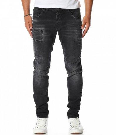 Дънков панталон в графитен цвят 11545