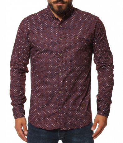 Вечерна риза с вталена кройка 11586