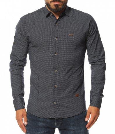 Стеснена риза с принт 11589