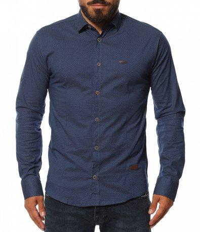Клубна риза в ситен принт 11591
