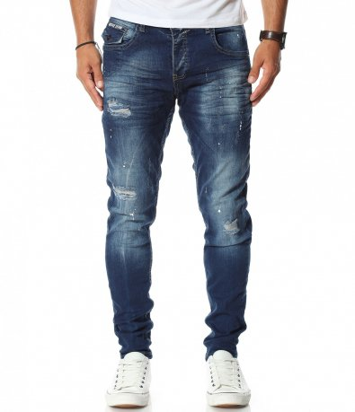Дънков панталон в син цвят 11598