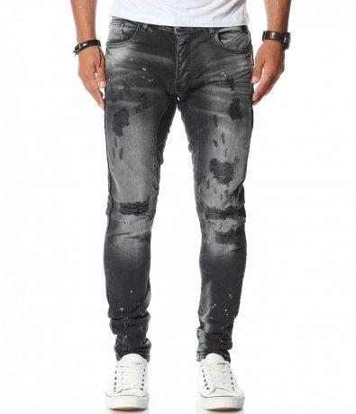 Черен дънков панталон 11599