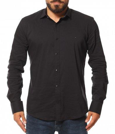 Елегантна риза в едноцветен принт 11608