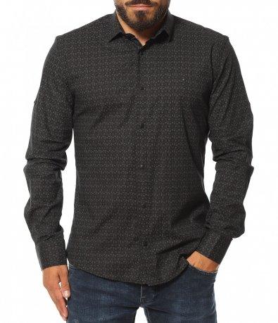 Риза с авангарден десен 11609