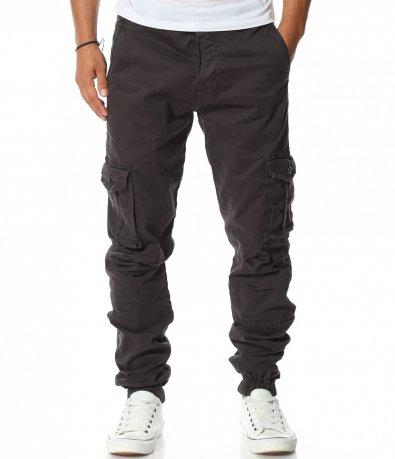 Ефектен карго панталон с ластик 11604