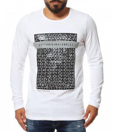 Памучна тениска с дълъг ръкав 11622