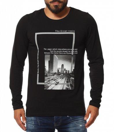 Тениска с дълъг ръкав и щампа 11626