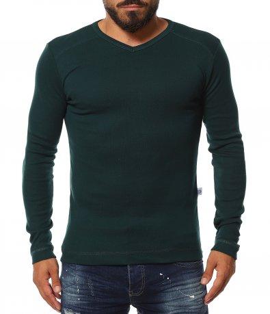 Класна блуза в еднотонен принт 11628