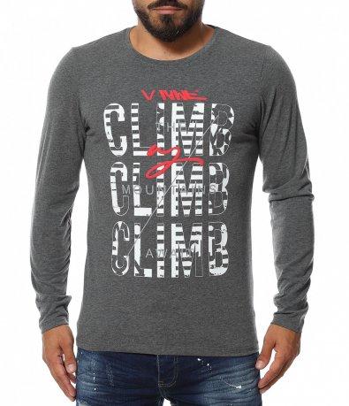 Тениска с дълъг ръкав и надпис 11576