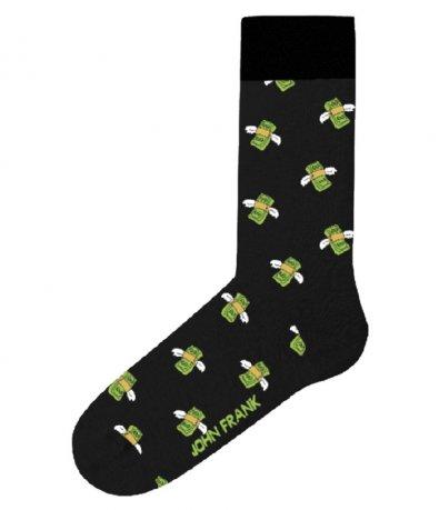 Памучни чорапи с декорация банкноти 11714