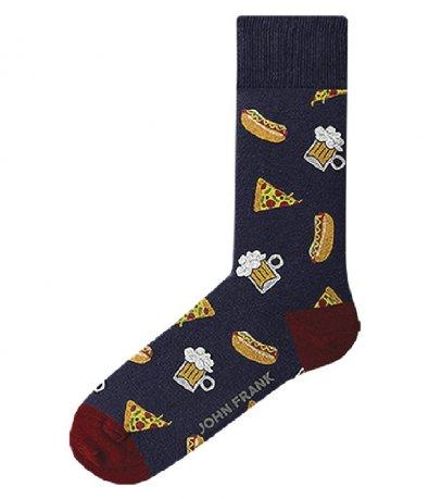 Черни чорапи с комбинирана щампа 11723
