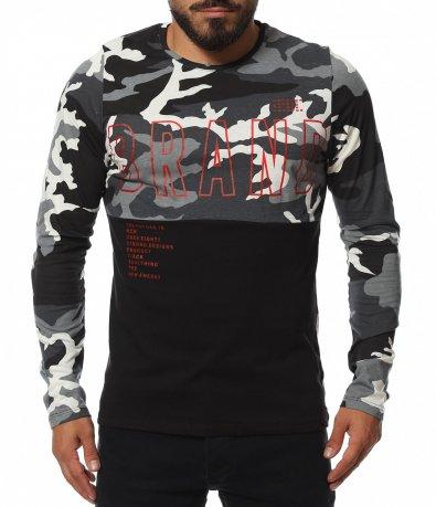 Памучна блуза с Miitary акцент 11751