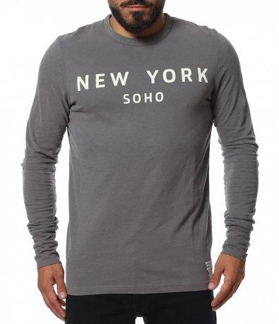 Памучна тениска с дълъг ръкав 11754