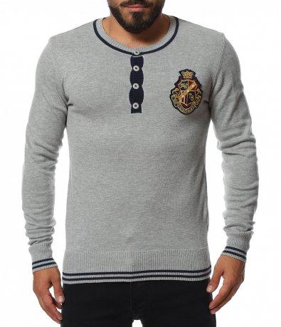 Пуловер с контрастни елементи 11756