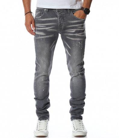 Сиви джинси с изсветлен ефект Red Point 11763