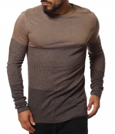 Фин пуловер в slim кройка 11768