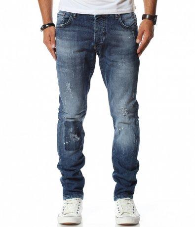 Ежедневен дънков панталон с кръпки 11776