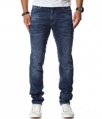 Дънков панталон в син цвят 11786