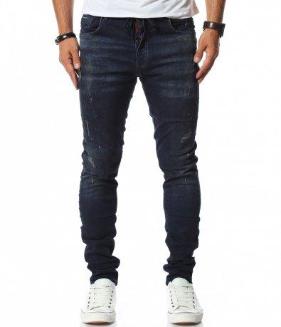 Класически slim fit дънки с връзки 11795