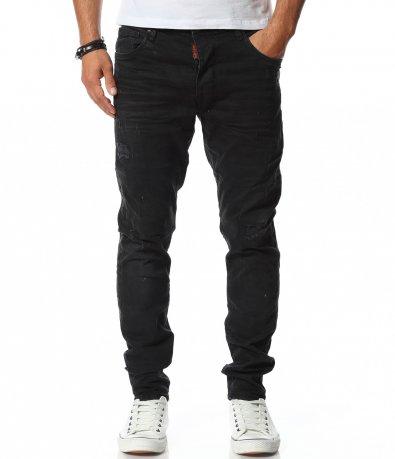 Черни актуални дънки Slim 11796