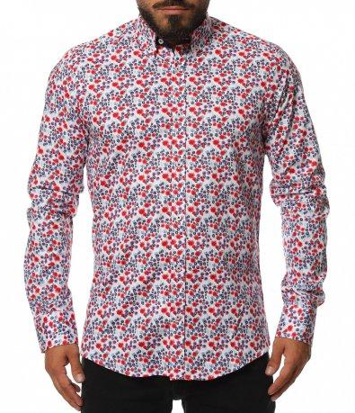 Риза с авангарден дизайн 11803
