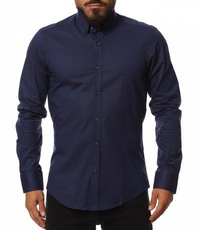 Класна риза в едноцветен принт 11804