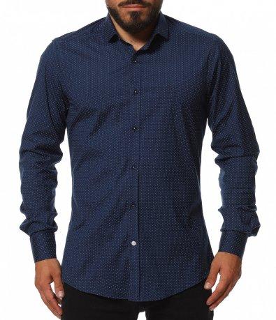 Вталена риза със семпъл акцент 11809