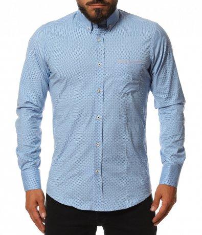 Свежа риза с декоративен джоб 11810