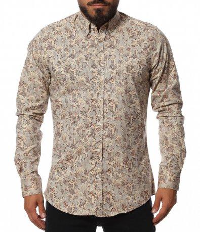 Бежова риза с големи декорации 11811