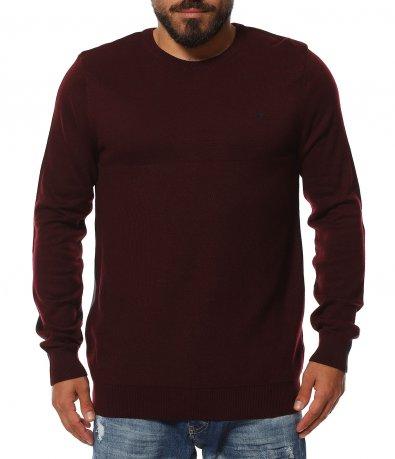 Двуцветен пуловер с лого 11820