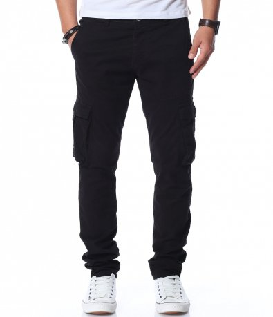 Едноцветен карго панталон 11896