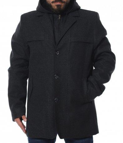 Зимно палто с подвижна яка 11939