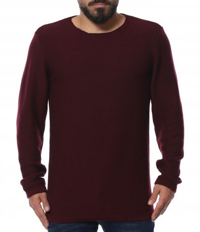 Едноцветен пуловер regularfit 11940