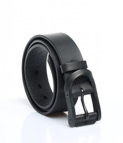 Черен колан с матирана катарама 12000