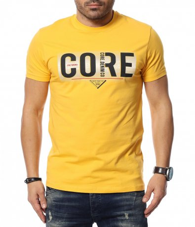 Едноцветна тениска с надпис 12026