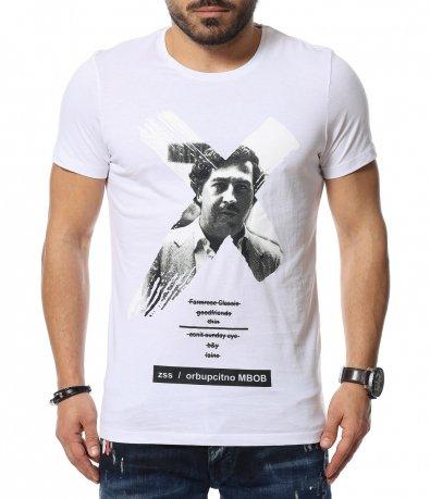 Памучна тениска с Pablo Escobar 12061