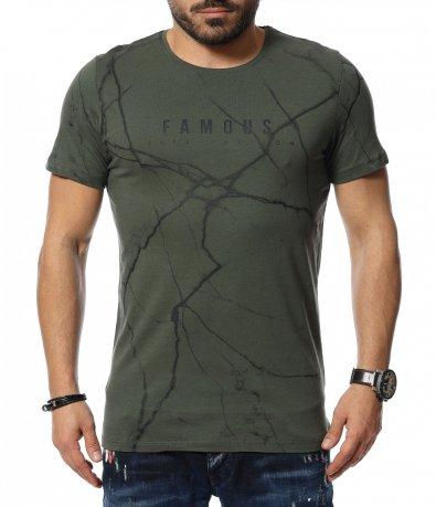 Тениска с надпис Famous 12062