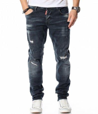 Деним панталон с еластичност 12085