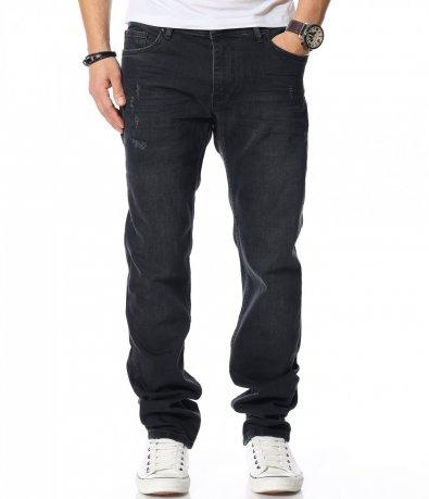 Черни дънки с изчистен дизайн 12077