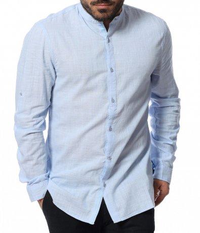 Памучна риза с ниска яка 12092