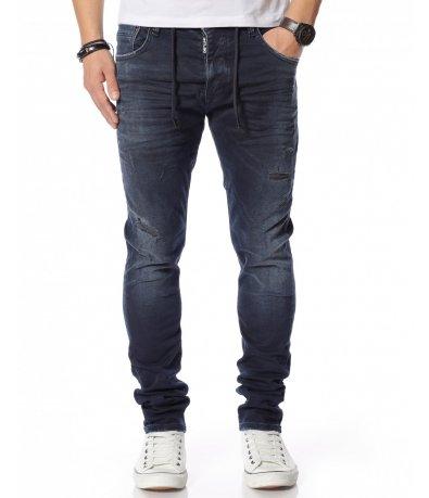 Тъмносин дънков панталон 12145