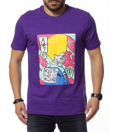 Цветна тениска с щампа 12148