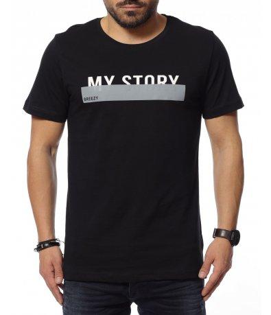 Тениска с надпис My Story 12153