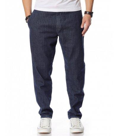 Дънков панталон с райета 12155