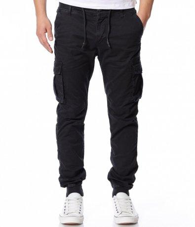 Черен ежедневен панталон 12156