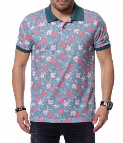 Цветна тениска с десен 12181