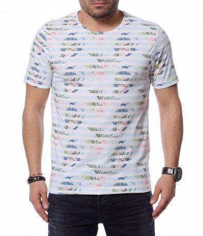 Тениска с раиран принт 12175