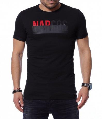 Тениска с двуцветен надпис 12182