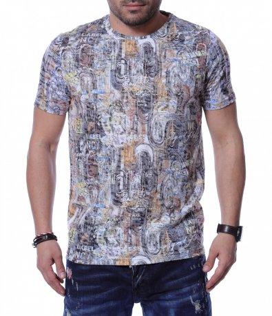 Летен T-Shirt в преливащи цветове 12212