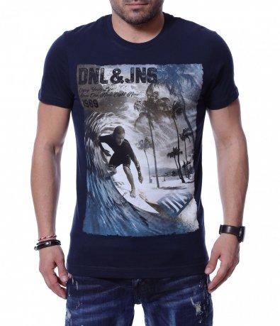 Тениска с морска апликация 12220